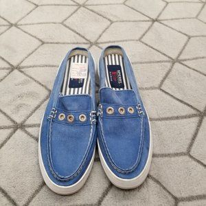 B14 Sperry Top-Sider Women's Blue Denim Slip Mule